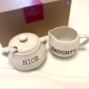 NEW Pottery Barn Cream & Sugar Set